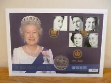 2002 22 Carats Or feuillé pièce de monnaie premier jour OFFICIEL THE QUEENS doré