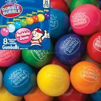 """5 Lb DUBBLE BUBBLE GUM BALLS 1"""" ROUND Bulk VENDING GUMBALLS 8 Flavors! 24mm"""