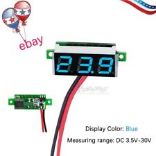 New Mini Digital Voltmeter 3.5-30V LED Car Auto Voltage Volt Panel Meter 2 Wire