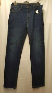 "BNWT Mens Next Straight Fit Denim Blue Jeans Waist 34"" XL  (13)"