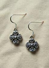 New BRIGHTON Eternity Cross FRENCH CROSS custom .925 wire earrings FREE SHIPPING
