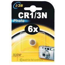 6x CR1/3N Lithium Foto-Batterie DURACELL DL1/3N Photo 3V 2L76