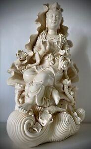 Guanyin / Guan Yin / Kwan Yin / Quan Yin PORZELLANFIGUR Blanc de Chine DEHUA