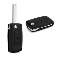 AS_ UK_ 2 Buttons Remote Flip Car Key Fob Replace Shell Case for Peugeot 207 307