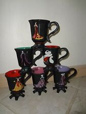 DISNEY DESIGNER VILLAINS MUG NRFB MALEFICENT,URSULA,EVIL QUEEN,QUEEN OF HEART