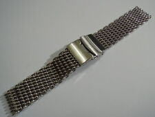 20MM STAINLESS STEEL SHARK MESH BRACELET FITS SEIKO DIVERS / OMEGA MEN'S WATCH