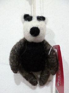 SALE Felt Hanging White Black Badger Home Gift Ethical Fair Trade CLEARANCE