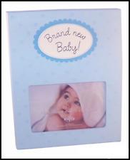 Sentiment Photo Frame - Brand New Baby - BLUE