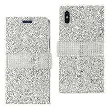 iPhone X Case Wallet Luxury Bling Diamond Protective Cover w/ Card Hol