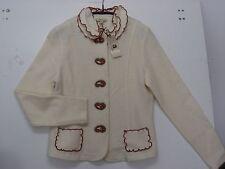 VENARIO - Trachten / Walk / Strick- Jacke, 100% Wolle, Creme - Rost, Gr. M - NEU