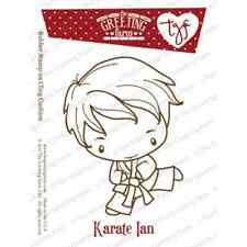 KARATE IAN-The Greeting Farm Cling Mount Rubber Stamp-Stamping Craft-RETIRED