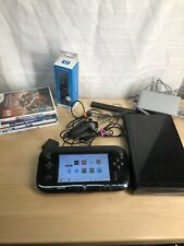 Nintendo Wii U Deluxe 32 GB Black System Console Large Bundle Lego 4 Games