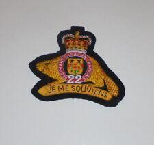 Royal Canada Canadian Regiment Quebec CAF Badge Patch Office Unit Beaver Uniform