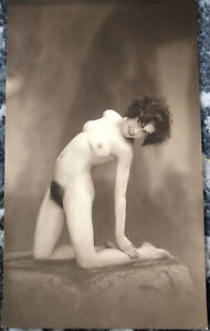 1910s French Risque Nude Woman photo 3.8x6.3 Inch