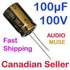 100V Axial Hi-Fi Audio Electrolytic Capacitor 4pcs-NICHICON SE 100uF 100µF