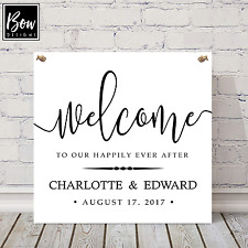 PERSONALISED HAPPILY EVER AFTER - Wedding Venue Welcome Guests Sign 193