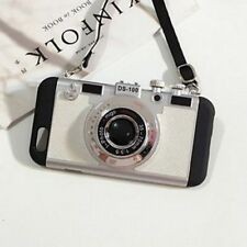 Camera Style Shockproof Protective Back Phone Cases With Lanyard For iPhone Unit