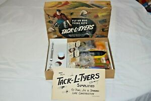 Vintage 1966 TACK-L-TYERS J31 Fly Bug Tying Kit in Original Box Fishing NOS USA