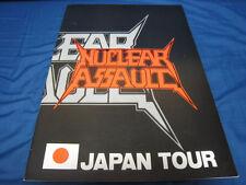 Nuclear Assault Signed Japan Tour Book Concert Program Anthrax S.O.D.