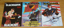 Blackhawk #1-3 VF/NM complete series - howard chaykin - prestige format set DC 2