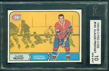 1968 69 OPC #163 CLAUDE PROVOST KSA 10 GEM MINT!! CANADIENS