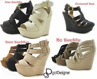 Women's Fashion Dress Shoes Platforms Wedges Sandals Heels Summer Sexy Strappy