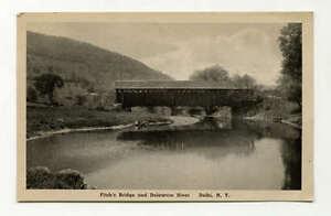 PC Fitch's Covered Bridge Delaware River c1910 Merrill Photograph