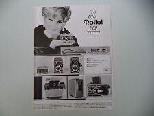 advertising Pubblicità 1967 ROLLEI 16 S/35 ROLLEICORD/ROLLEISCOP/ROLLEIFLEX SL