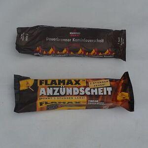 20x KAMINOFLAM oder FLAMAX Kamin Starter Anzünder Kaminscheit Kaminholz