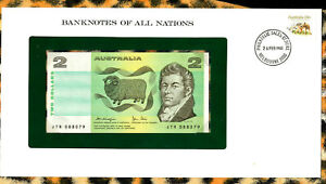 Banknotes of All Nations Australia 2 Dollars 1979 P-43c UNC Knight/Stone JTR