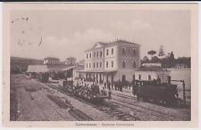 CAMPOBASSO STAZIONE FERROVIARIA CON TRENO ANIMATA 1909 SUPER !