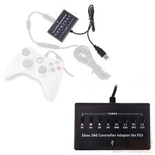 USB XBOX 360 Controller to Playstation 3 PS3 Converter Box Turbo Cross Adapter