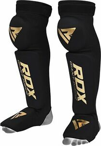 RDX Shin Guards Instep Leg Pads Knee Support MMA Protector Foot Thai Kickboxing