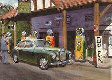 MG Magnette Duo Tone Colyford Shell & BP Petrol Pumps Devon Blank Greeting card