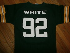 vtg REGGIE WHITE GREEN BAY PACKERS 92 JERSEY Old School Logo 7 Youth Toddler