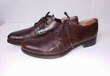 Prada Brown Leather Lace Up Oxfords Shoes Men's Sz 10 EE