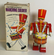 Vintage BATTERY OPERATED MARCHING SOLDIER DRUMMER MIB - WORKING..