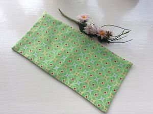 YOGA RELAXATION MEDITATION EYE PILLOW LAVENDER FILLED GREEN RED ABSTRACT PRINT