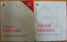 Apple Power Macintosh 7500 series User's Guide Technical Information vintage