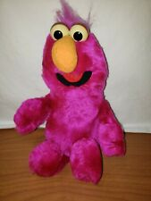 "Vtg 1988 Sesame Street Telly Monster 13"" Purple Plush Stuffed Animal Applause"