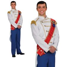 Mens Prince Charming Costume for Fairytale Royal Fancy Dress Outfit Adult
