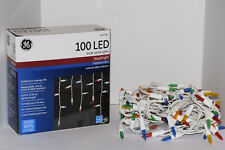 GE StayBright 100-Count Constant Multicolor Mini LED Icicle Lights Christmas