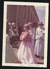 Vintage Photograph Beautifully Dressed Girls on Easter Sunday Heart of Flowers