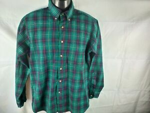 Pendleton Green Check 100% Virgin Wool Size M Authentic Macneil Tartan
