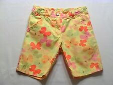 """Gymboree """"Social Butterfly"""" Butterfly Yellow Bermuda Shorts, 6"""
