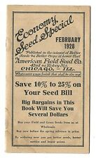 1928 American Field Seed Co Catalog Chicago IL Farmer's Field & Grass Seeds