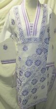 Elegance chikan embroidery long   coton  kurta/top size 42