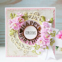 Happy Birthday Cutting Dies Stencil DIY Scrapbooking Embossing Card Making Decor