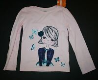 New Gymboree Butterfly Garden Pink Girl With Butterflies Top Tee Sz 18-24m NWT