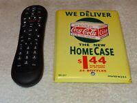"""VINTAGE COCA COLA HOME CASE 24 BOTTLES 7"""" PORCELAIN METAL SODA POP GAS OIL SIGN!"""